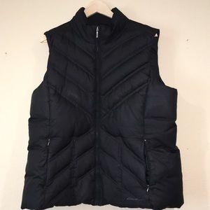 Eddie Bauer goose down filled puffer vest  XL